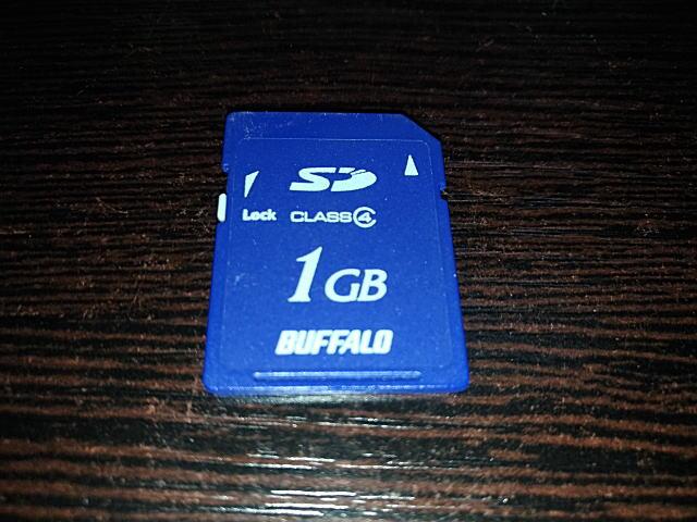 BUFFALO_SDカード(1GB)